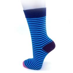 Fancy Socks - Blue Stripes